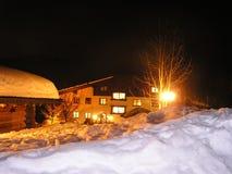 夜间在阿尔卑斯 免版税库存照片