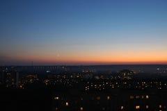 夜间天空 免版税库存照片