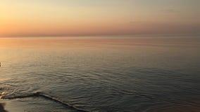 夜间日落在丹麦 免版税库存图片