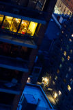 夜间曼哈顿 免版税库存照片