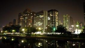 夜间流逝的城市 影视素材