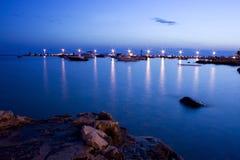 夜间港口 库存图片
