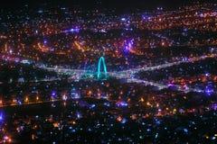 夜间的岘港市 免版税库存照片