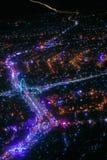 夜间的岘港市 免版税图库摄影
