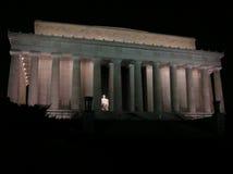 夜间瞥见林肯纪念品 免版税库存照片