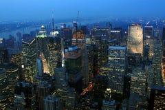 夜间纽约 免版税库存图片