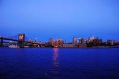 夜间纽约 免版税库存照片