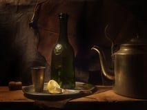 夜间茶 免版税图库摄影