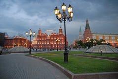 夜间莫斯科俄国 库存图片
