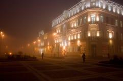 夜间街道 免版税库存图片