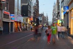 夜间阿姆斯特丹 库存图片