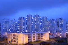 夜间lianozovo莫斯科地区俄国 库存图片