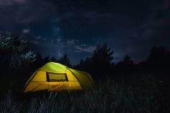夜阵营 库存照片