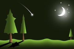 夜风景传染媒介背景  库存图片