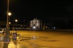夜风景在巴黎, 2017年12月 免版税库存图片