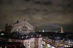 夜风景在巴黎, 2017年12月 库存照片
