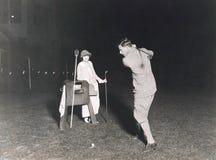 夜高尔夫球 图库摄影
