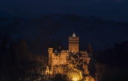 夜麸皮城堡 免版税库存照片
