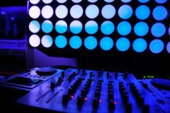 夜总会dj 声测设备 免版税库存图片