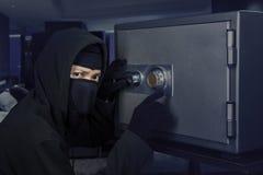 夜贼发证银行穹顶 免版税库存照片