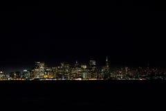 夜间圣Francsisco 免版税库存照片