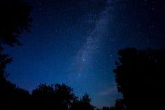 夜满天星斗的天空场面 免版税库存图片