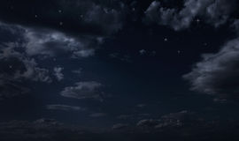 夜满天星斗的天空 库存图片