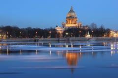 夜间彼得斯堡圣徒 免版税库存照片