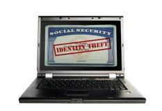 夜贼概念身分货币成套装备护照堆积包围的偷窃佩带 免版税库存照片