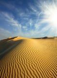 夜间沙漠 库存照片