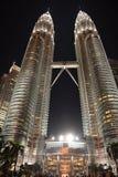 夜间的马来西亚 库存图片