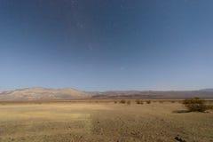 夜间的死亡谷国家公园 库存图片