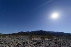 夜间的死亡谷国家公园 库存照片