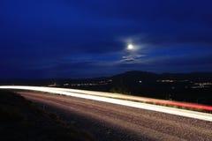 夜间线路 图库摄影