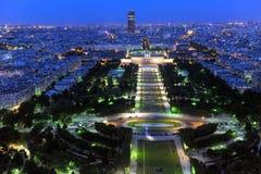 夜间巴黎 视图 图库摄影