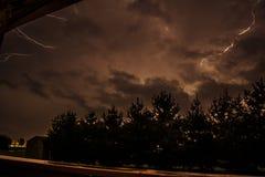 夜间闪电 库存图片