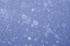 夜间雪 免版税图库摄影