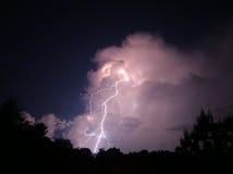 夜间雷电 免版税库存图片