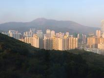 夜间香港 库存照片