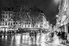巴黎夜 库存图片
