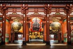 夜间Senso籍寺庙,浅草,东京,日本 库存图片