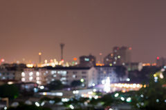 夜bankok城市blure 免版税图库摄影