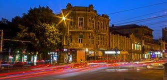 夜Pyatigorsk手段的看法 免版税库存照片