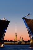 夜St 彼得斯堡 免版税库存照片