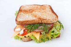 大三明治用肉和Veg 免版税库存照片