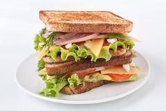 大三明治用肉和Veg 库存照片