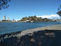 大三角帆公园旅行提包 免版税库存照片