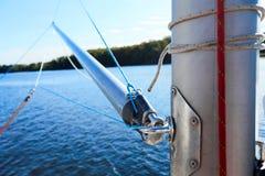 大三角帆杆是用于风船的晶石 免版税库存图片