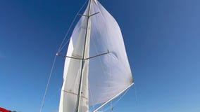 大三角帆的适当的配置在顺风的 影视素材