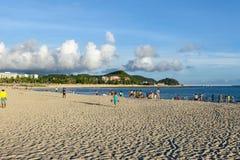 大东海海滩,三亚,中国 图库摄影